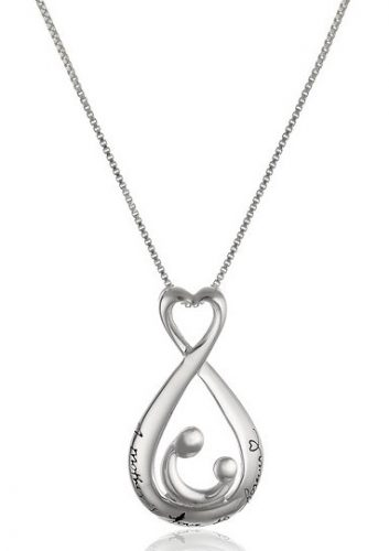 Sterling Silver Open Teardrop Pendant Necklace | Jewelry Gifts For New Moms