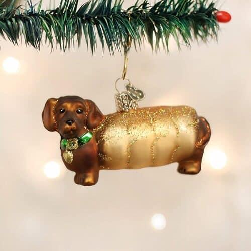 Wiener Dog Christmas Ornament
