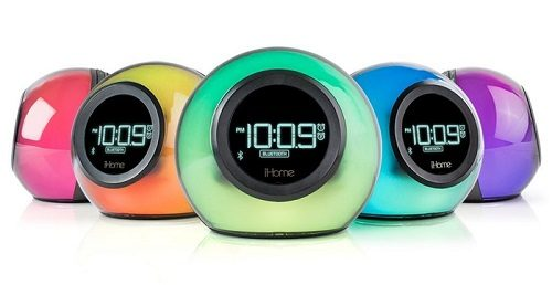 iHome iBT29BC Bluetooth Color Changing Dual Alarm Clock FM Radio with USB Charging and Speakerphone
