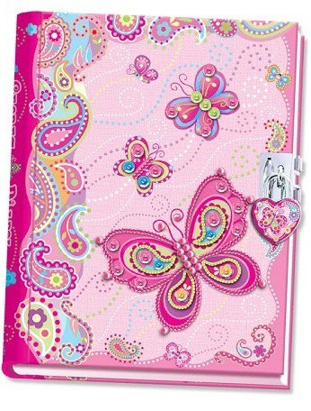 Butterfly Diary with Lock by Pecoware