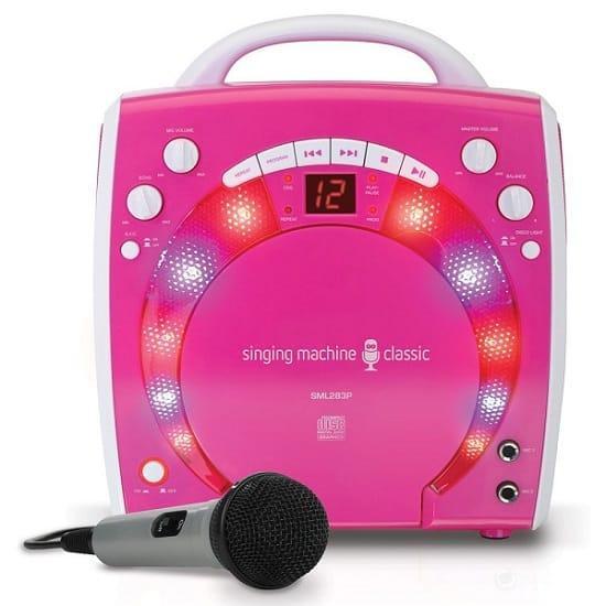 singing machine sml 283p cdg karaoke player great gift for 9 year old girls