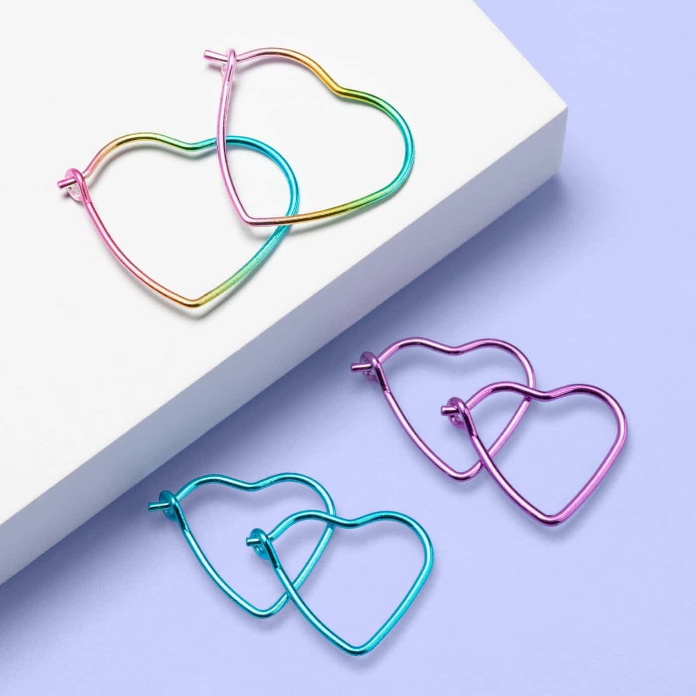 3 pack hoop earrings