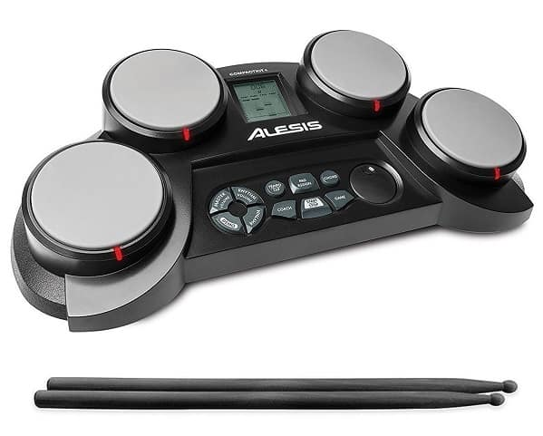 Electronic Drum Kit with Drumsticks & Built-In Learning Tools by Alesis