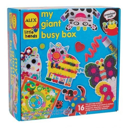 ALEX Toys Little Hands My Giant Busy Box with 16 different projects for kids age 3 and up