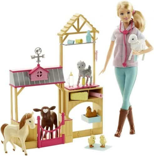 Barbie Careers Farm Vet Doll & Playset | Great gift for girls age 6