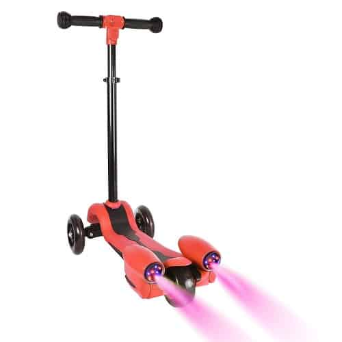 CATWALK 3 Wheels Kid Scooter | Kick Scooter with Adjustable Handle,LED Light-up Wheels and Sprayer for Boys&Girls