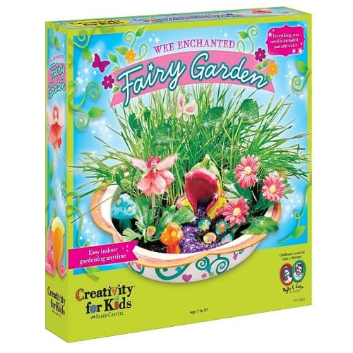 Creativity for Kids Enchanted Fairy Garden Craft Kit | Grow Your Own Little Fairy Land with this complete gardening kit!