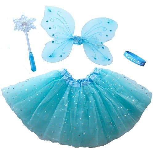 Frozen Inspired Fairy Princess Set & Light Up Snowflake Wand