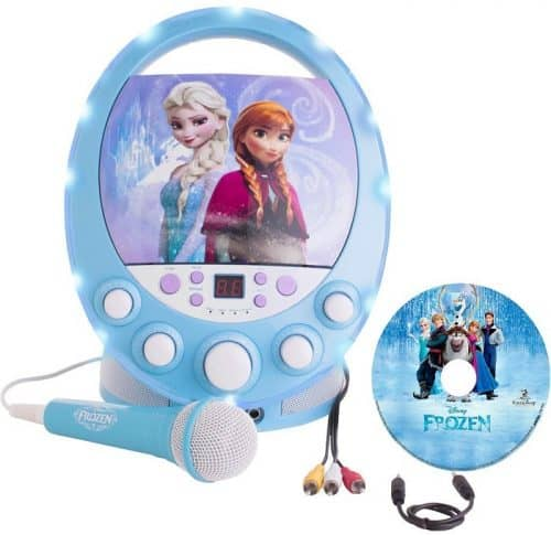 Frozen Karaoke Machine with FREE CD-G with music from Frozen - Great gift idea for girls age 4 who love to sing! #giftidea