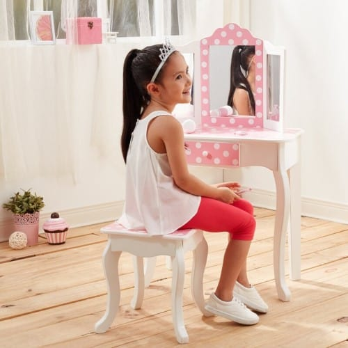 Gisele Vanity Set with Mirror - Gifts For 6 Year Old Girls