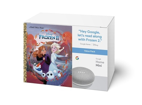 Google Home Mini and Frozen II Book Bundle | Gifts for Frozen Fans