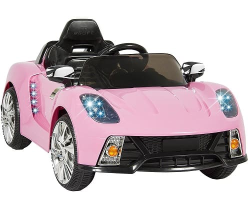 Kids Pink 12V Electric Ride On Car with MP3