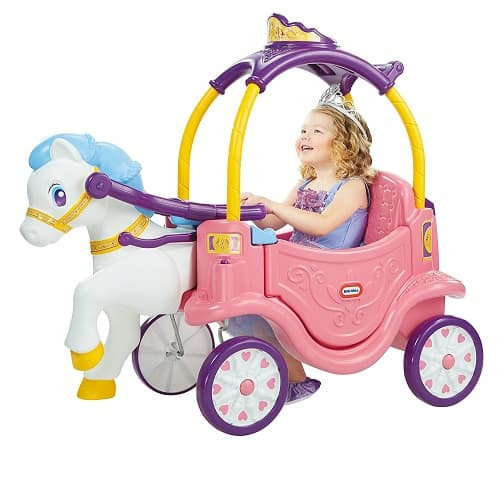 Little Tikes Princess Horse and Carriage - Great Ride on Toy! Kids can ride themselves or be pushed/pulled