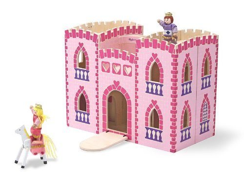 Melissa & Doug Fold and Go Wooden Princess Castle