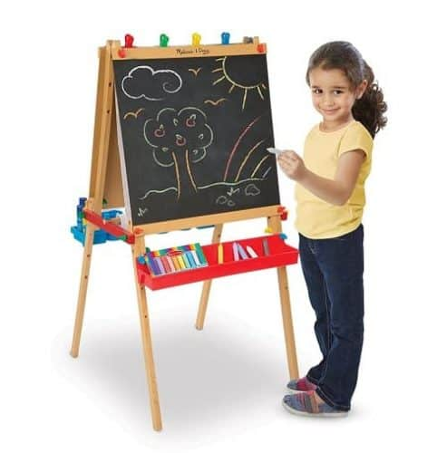 Melissa & Doug Deluxe Standing Art Easel - Best Toys and Gifts for Girls Age 3