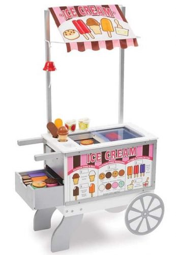 Melissa & Doug Wooden Snacks and Sweets Food Cart - 40+ Play Food pcs