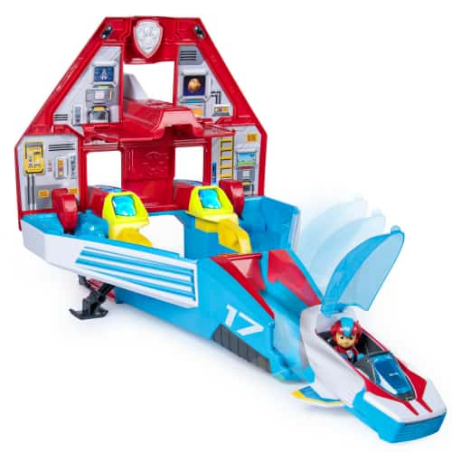 PAW Patrol Super PAWs 2-in-1 Transforming Mighty Pups Jet Command Center with Lights and Sounds