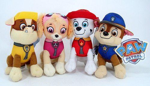 "Paw Patrol Plush Pup Pal 4 Pcs Character Plush Set Marshall Chase Rubble Skye 8"" Plush Doll"
