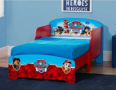 Paw Patrol Wooden Bed For Toddler