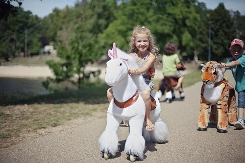 Pony Cycle White Unicorn Ride On Toy
