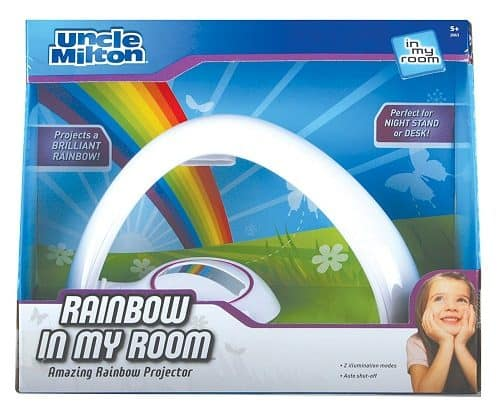 Rainbow In My Room Tabletop Décor Night Light Projector | Projects rainbow across the walls and ceiling