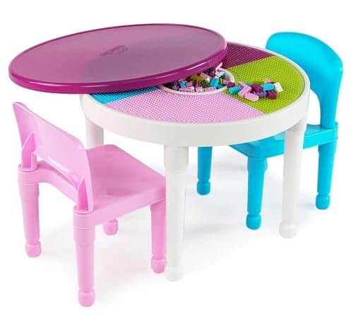 LEGO-Compatible Activity Table and 2 Chairs Set