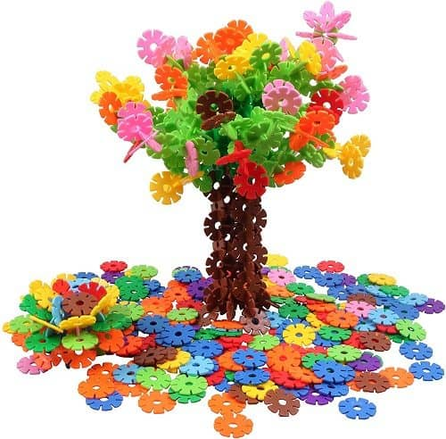 VIAHART Brain Flakes 500 Piece Interlocking Plastic Disc Set | Great STEM Toy for Girls AND Boys