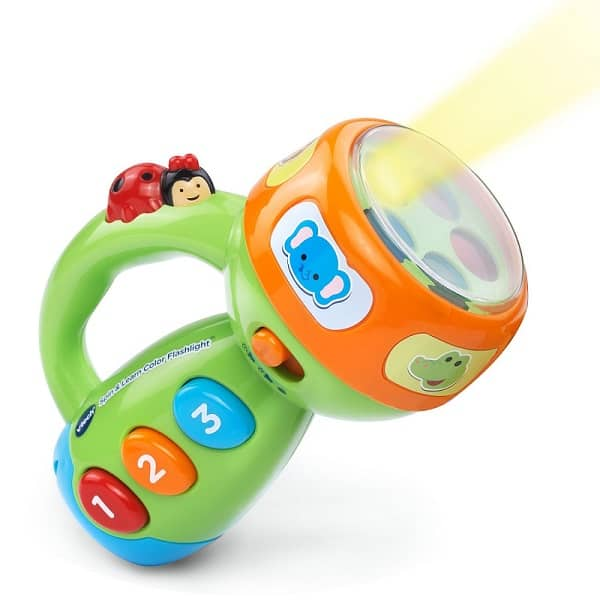 VTech Spin and Learn Color Flashlight - Educational toy that teaches animal sounds, colors, counting and more. Suitable for kids age 1-3