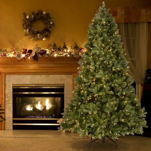 7.5 ft. Downswept Douglas Tree with Clear Lights - Best Fake Christmas Trees
