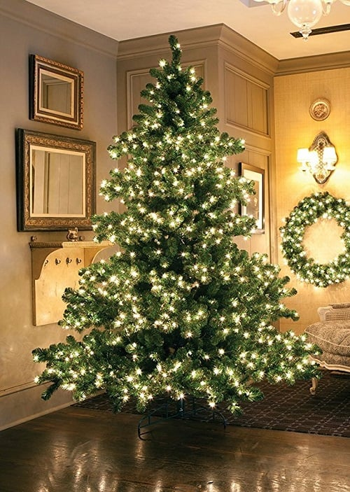 6.5ft Pre-Lit Middleton Full Layered Artificial Christmas Tree with Clear Lights