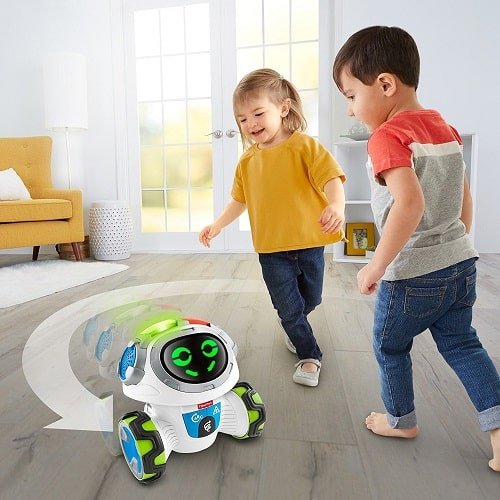 Fisher-Price Think & Learn Teach 'n Tag Movi can move everywhere with 360 degrees of mobility