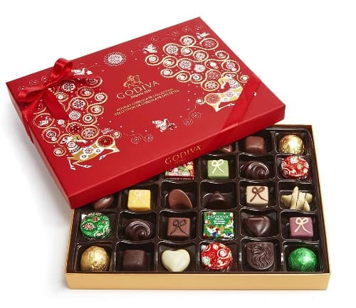 Godiva Chocolatier Assorted Chocolate Holiday Gift Box