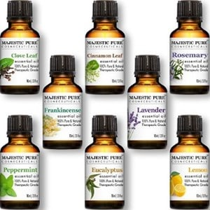 Majestic Pure Top 8 Aromatherapy Essential Oils Gift Set