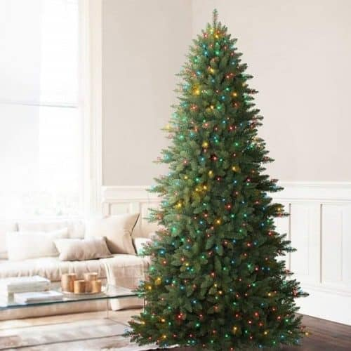 Mountain Fir Pre-lit Artificial Christmas Tree with Multi-Color Lights