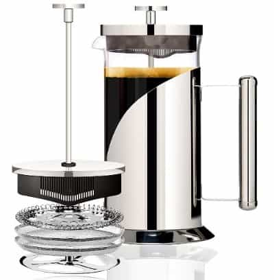 Cafe Du Chateau 34oz French Press Coffee Maker