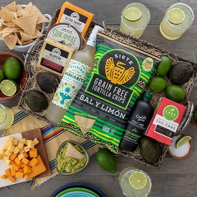Chippin' Dippin' And Margarita Sippin' Gift Basket