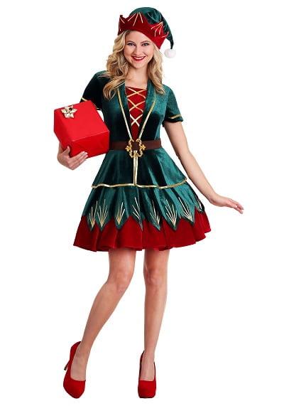 Deluxe Holiday Elf Costume