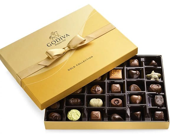 Godiva Assorted Chocolate Gold Ribbon Gift Box, 36 pc.
