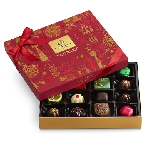 Godiva Assorted Chocolate Holiday Gift Box - 16 pc.