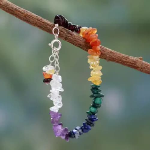 Handmade Chakra Bracelet | Jewelry gift for a woman over 50
