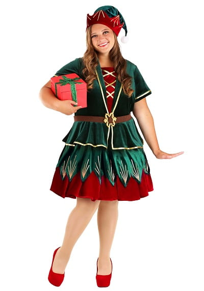 Plus Size Christmas Elf Costume