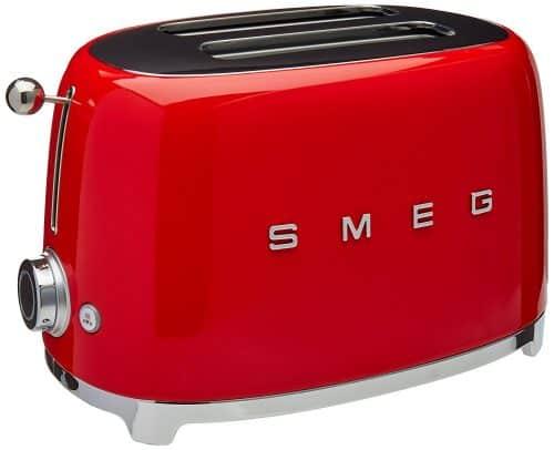 Smeg 2-Slice Toaster Red