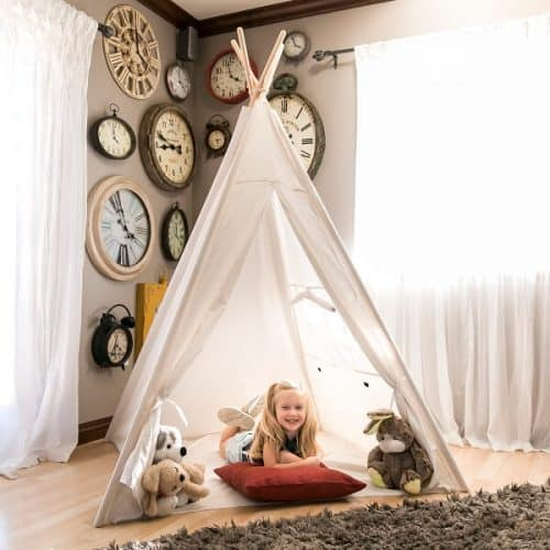 6ft White Teepee Tent For Kids