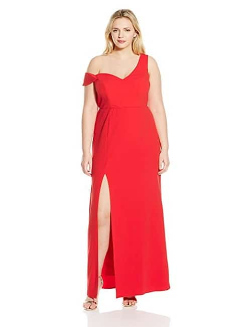 ABS by Allen Schwartz Plus Size Asymmetric Off Shoulder Dress