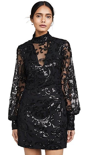 Beaded Black Mini Dress