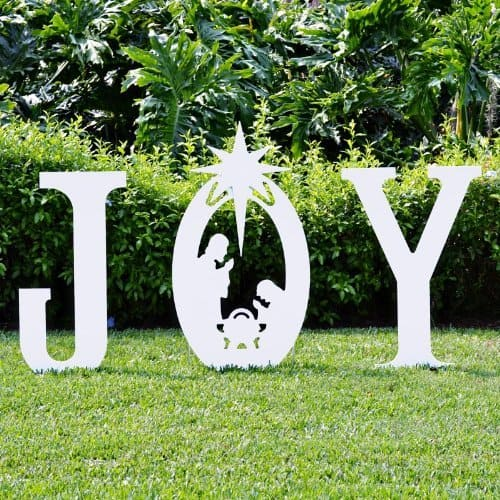 Christmas Joy Nativity Yard Sign