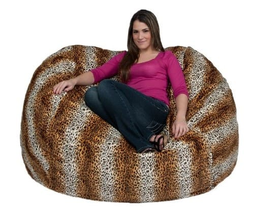 Cozy Sack Extra Large Bean Bag Chair in Leopard Print