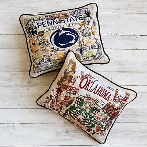 Embroidered College Pillows