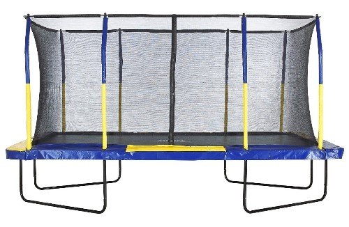 Rectangular Trampoline with Fiber Flex Enclosure