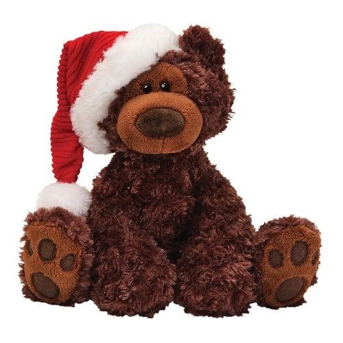 Gund Fun Christmas Philbin Chocolate Bear